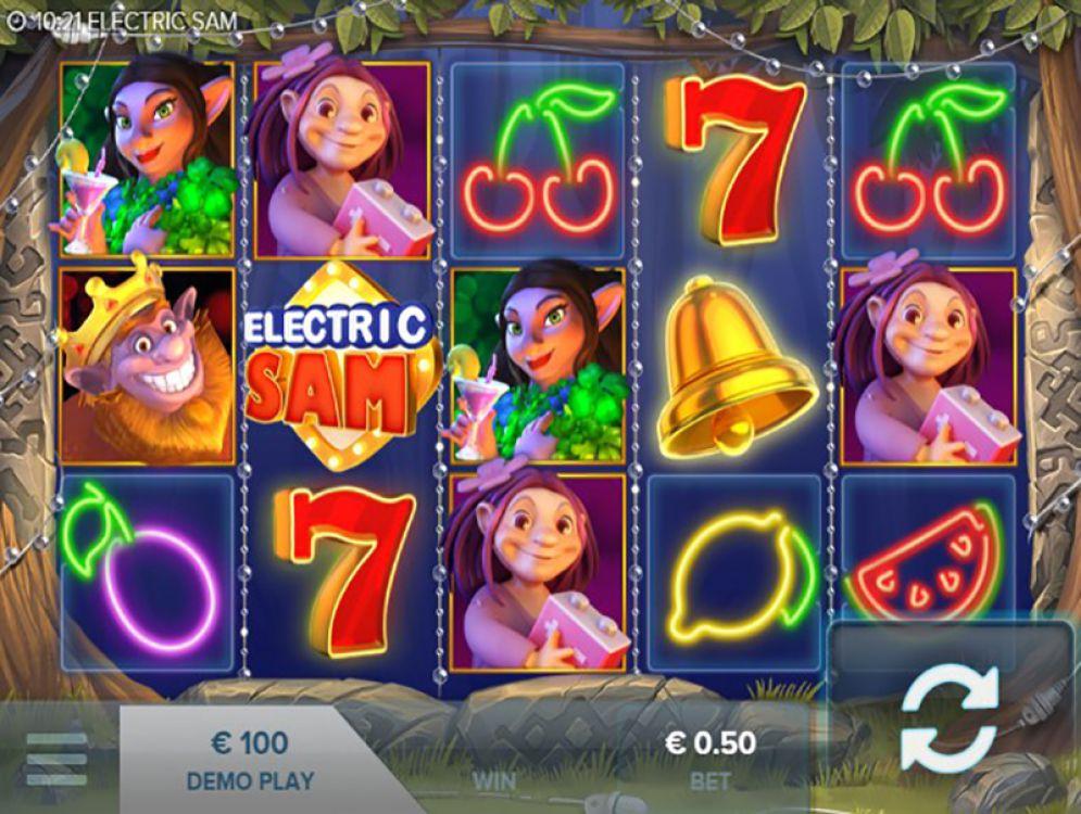 Electric Sam Slot Screenshot Gameplay