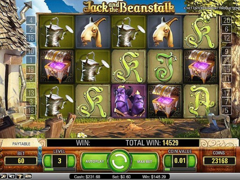 Jack and the Beanstalk slot Review screenshot bonus