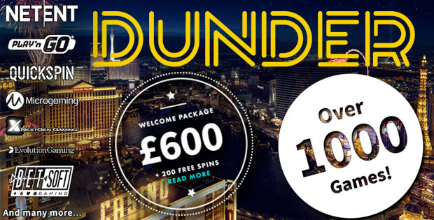 Dunder Casino Welcome Package